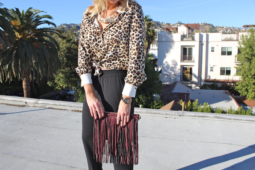 Leopard and Burgundy - Stassi Schroeder