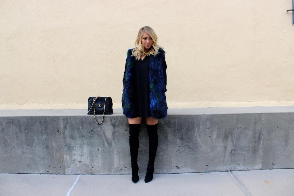 blue vest - just stassi - stassi schroeder