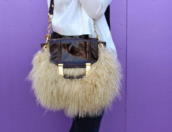 Fur Handbag - just stassi