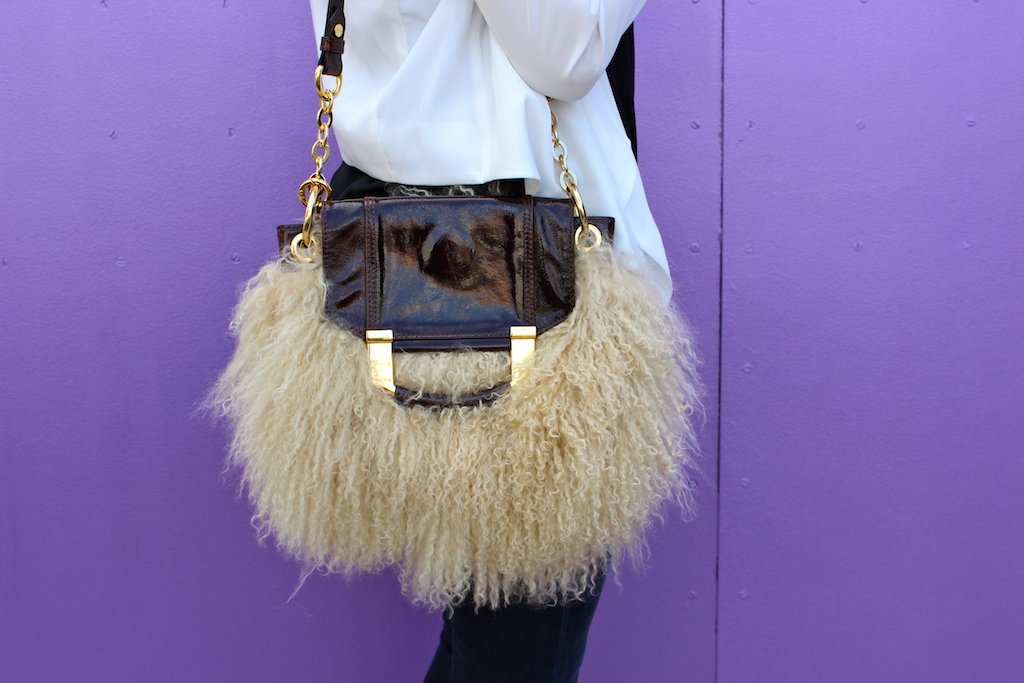 Fur Handbag - just stassi