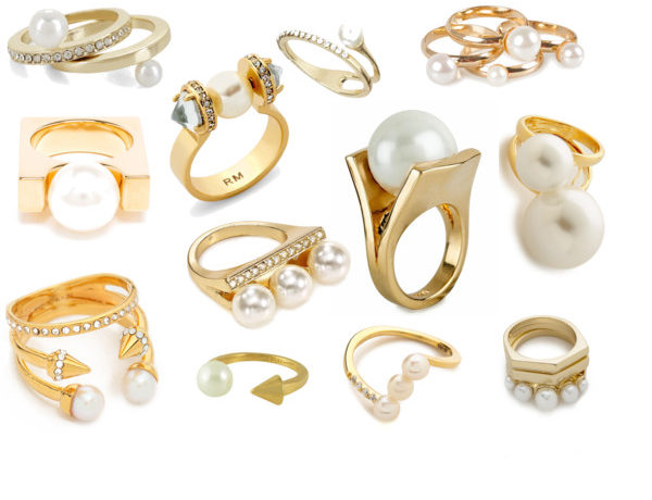 pearl and gold rings - stassi schroeder - just stassi