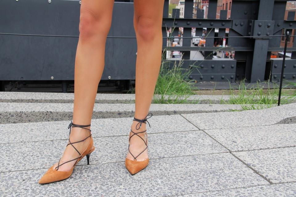 Just Stassi - Stassi Schroder - Topshop Lace Up Kitten Heels