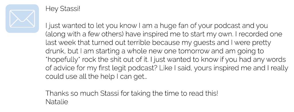 stassi schroeder - podcast email